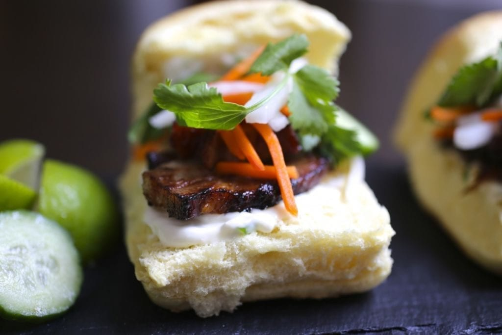 Pork Belly Bánh mì Sliders