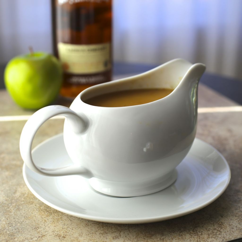 Make Ahead Turkey Gravy with Calvados (Apple Brandy)
