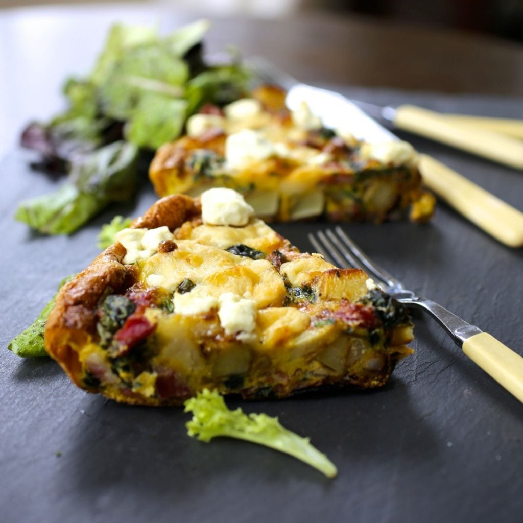 Potato, Spinach & Cheese Frittata