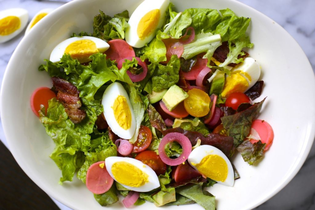 Spring Salad With Eggs