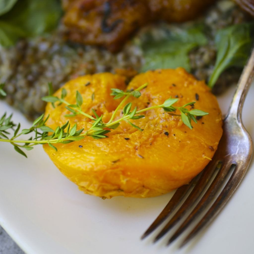 Roasted Peaches with Honey and Thyme