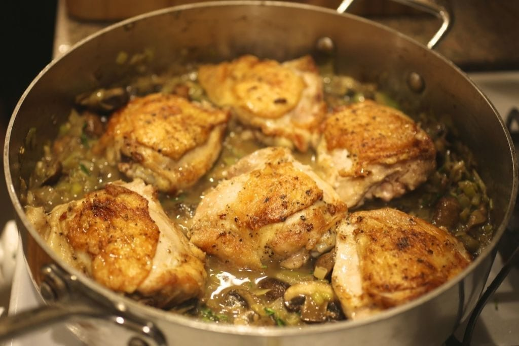 Chicken Baked with Creamy Mushroom Sauce