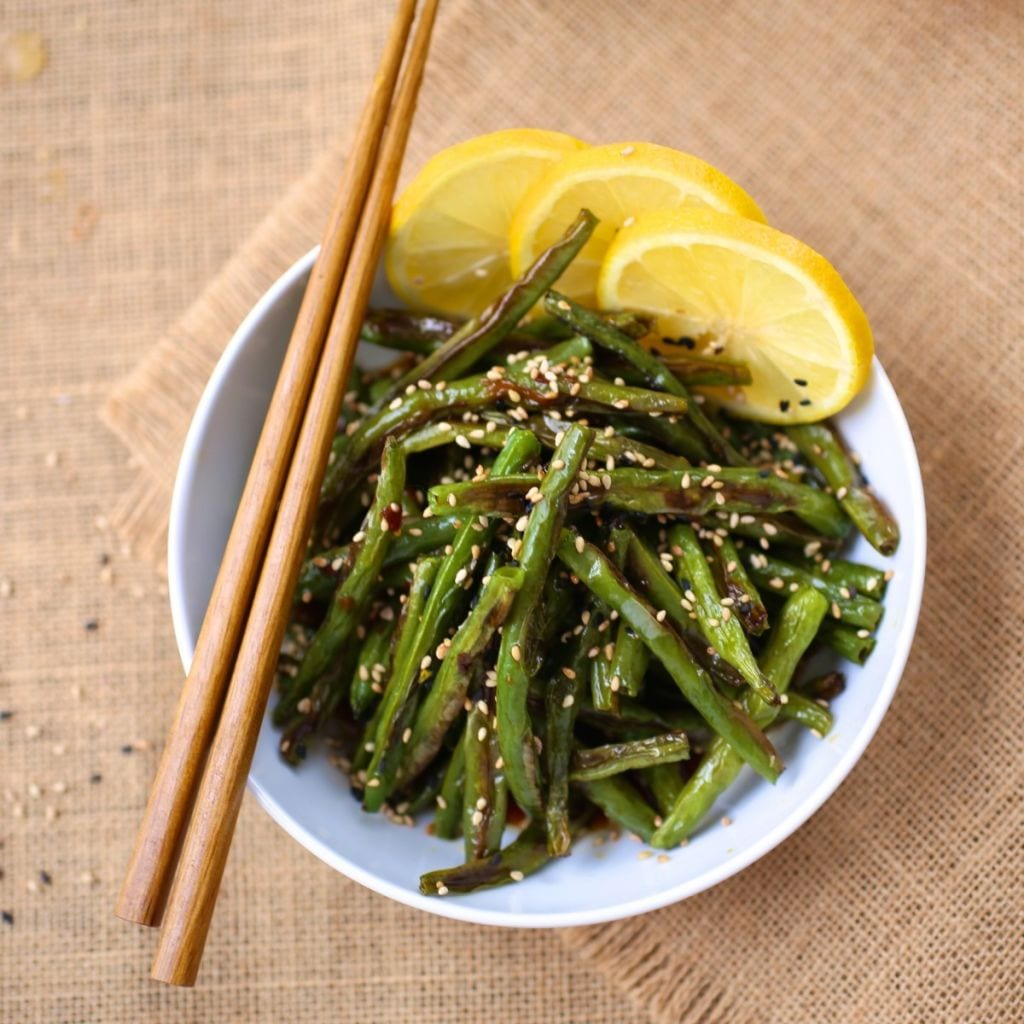 Caramelized Green Beans with Soy and Lemon