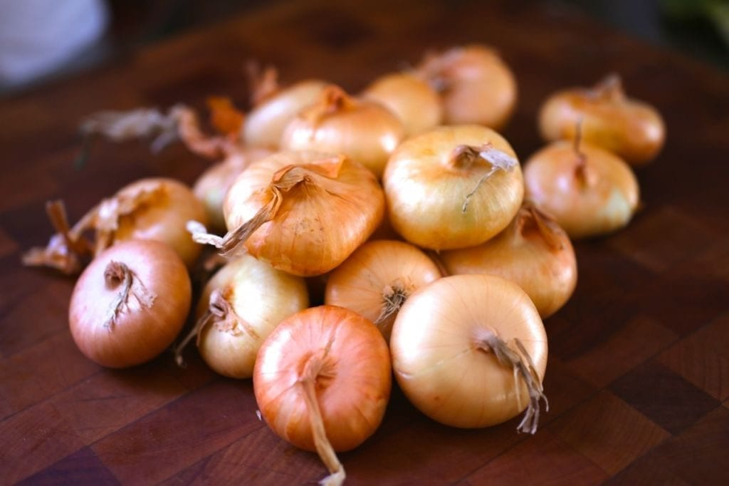 Duck-Fat Roasted Cipollini Onions with Thyme