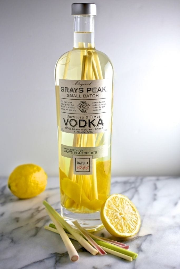 Lemongrass and Lemon-Peel Infused Vodka