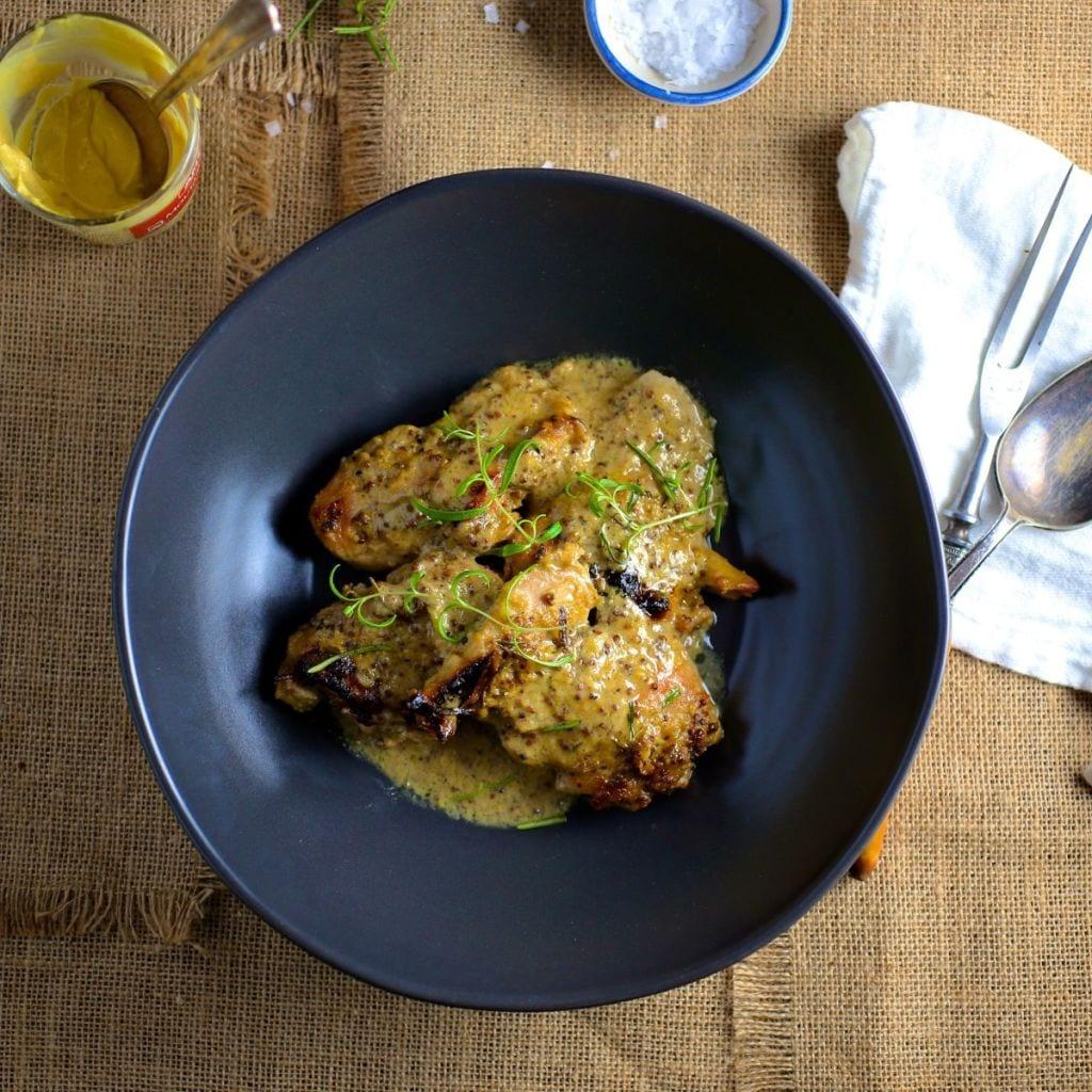 Maple-Mustard Baked Chicken Thighs