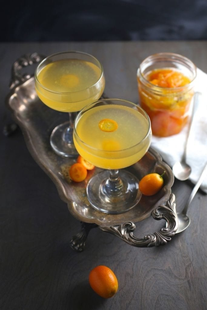 Kumquat-Ginger Rosé Cocktail