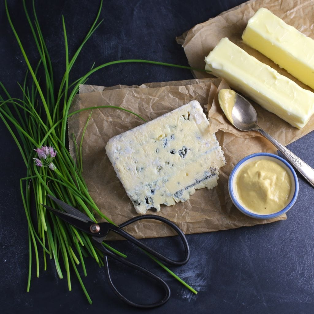 Blue Cheese and Chive Compound ButterBlue Cheese and Chive Compound Butter