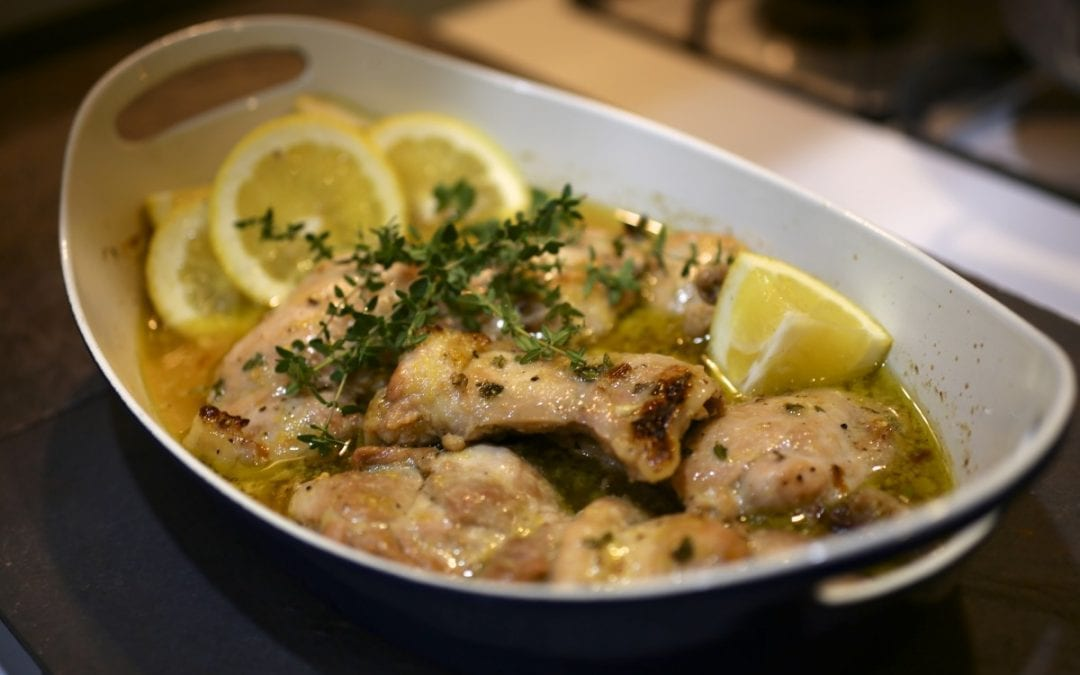 Baked Chicken Thighs with Lemon and Garlic