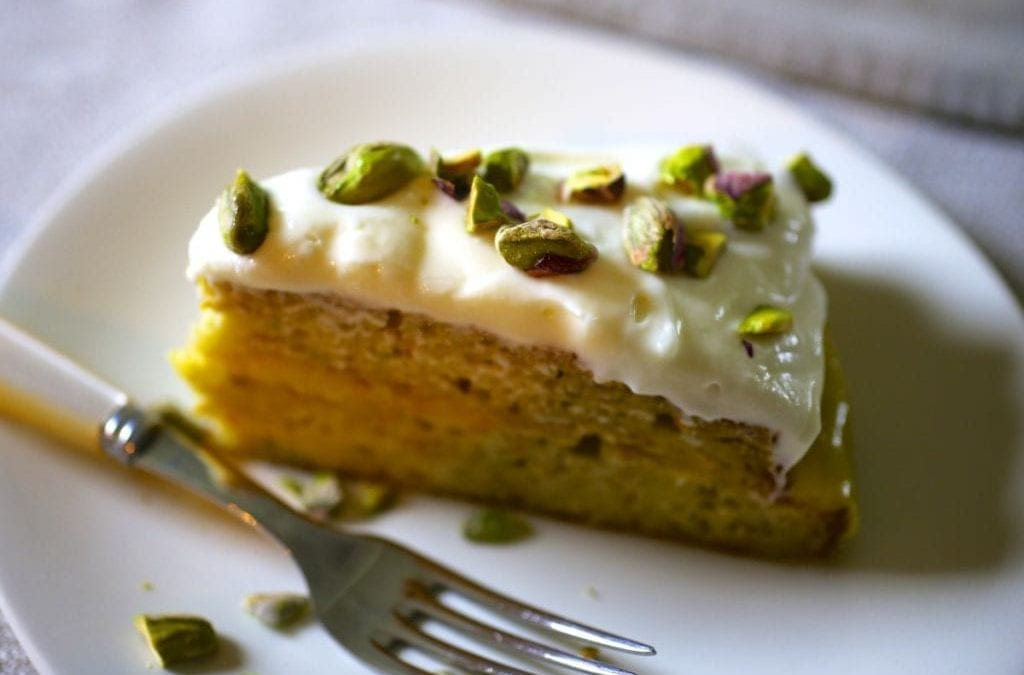 Zucchini Cake with Lemon Curd Filling