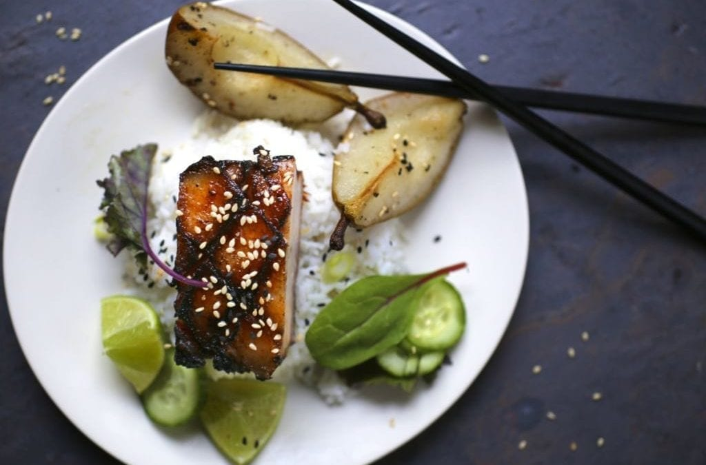 Crispy Pork Belly with Soy Honey Glaze
