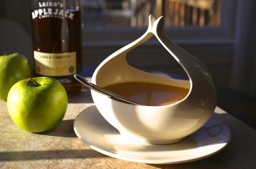 Make Ahead Turkey Gravy with Calvados (Apple Brandy)
