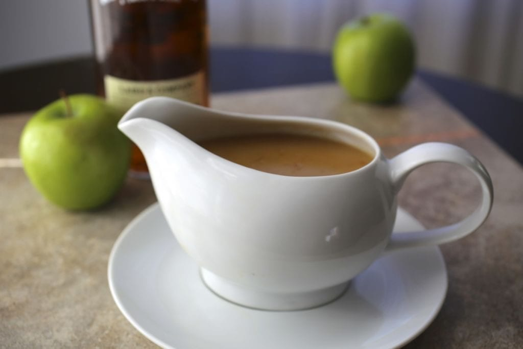 Thanksgiving recipes: Make-Ahead Turkey Gravy with Calvados (Apple Brandy)