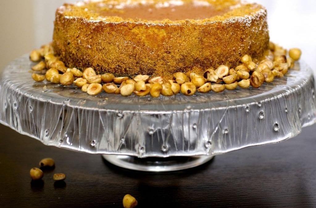 Hazelnut Praline Cheesecake