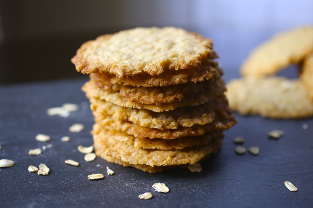 Oatmeal-Lace Cookies Recipe — Dishmaps