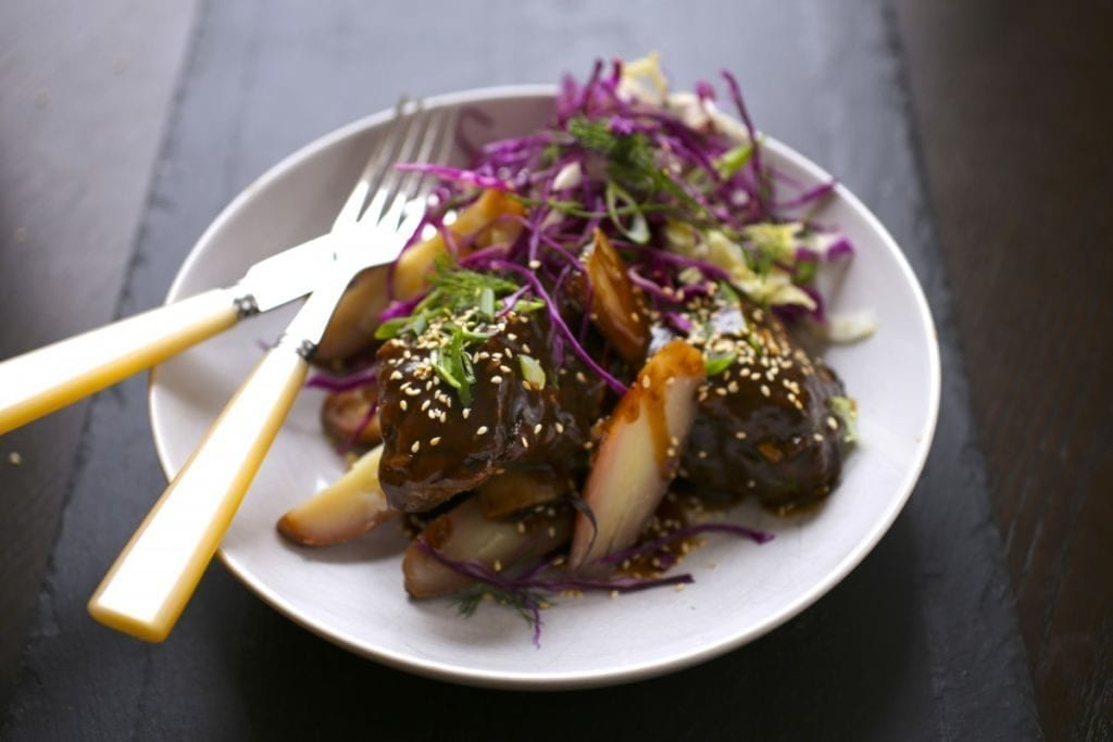 Braised Short Ribs with Beer and Hoisin