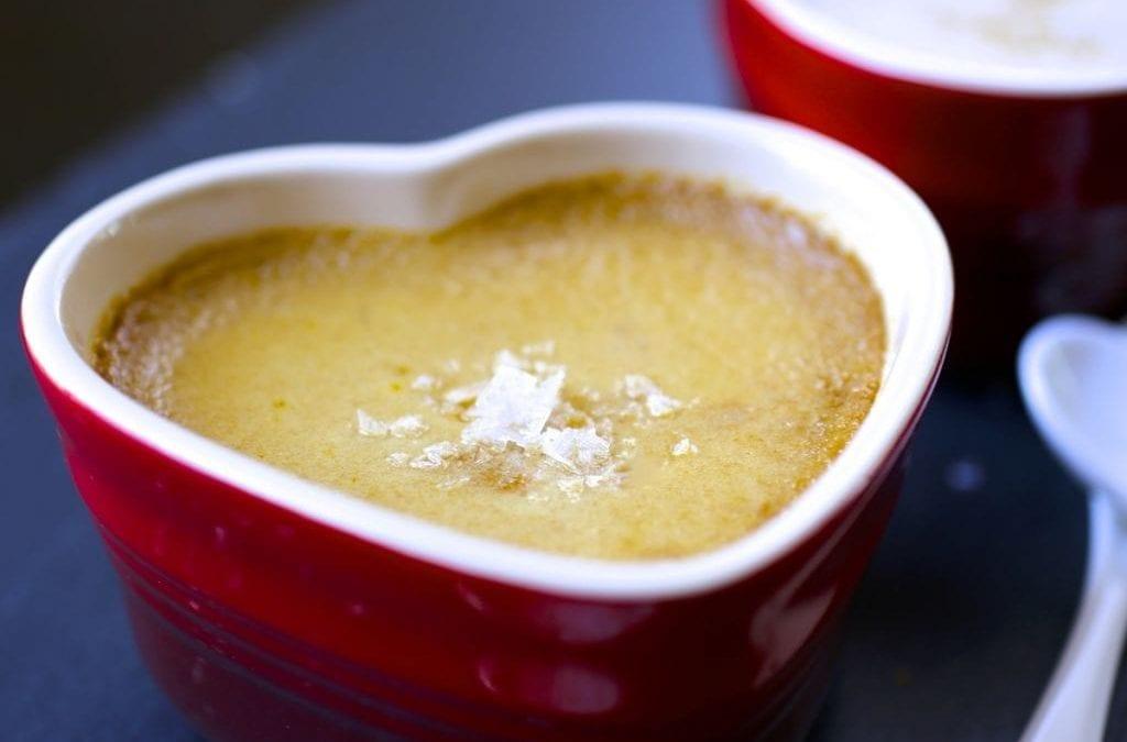 Salted Caramel Brown Sugar Pots de Crème