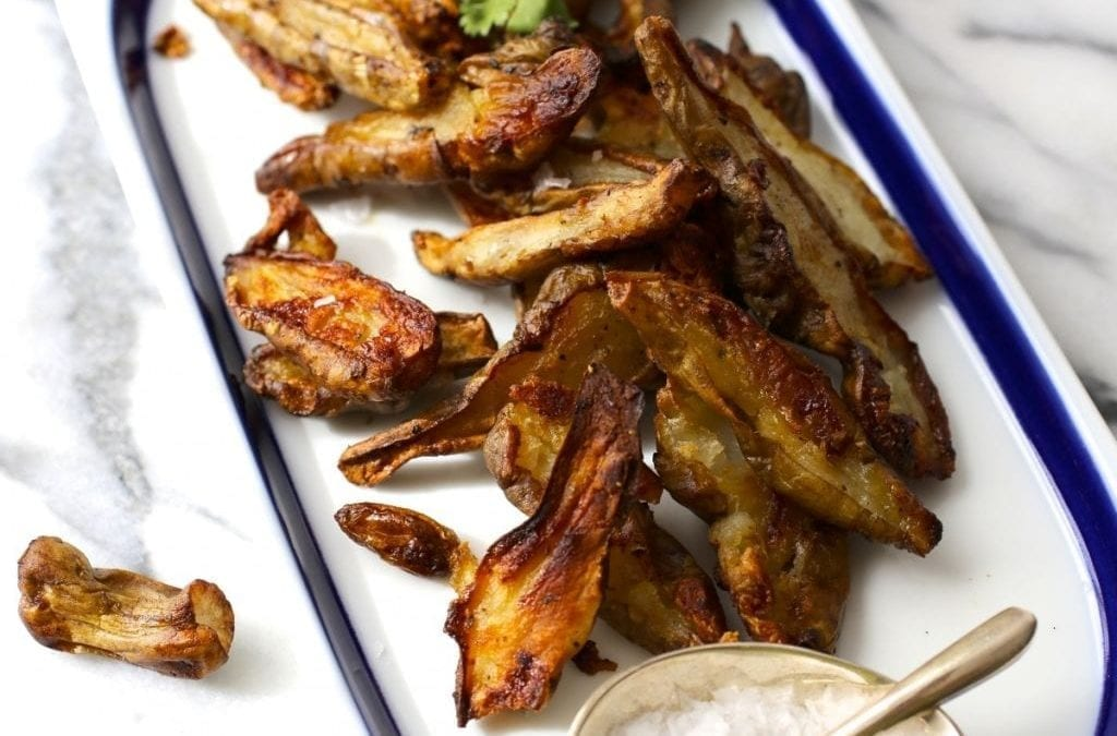 Roasted Sunchokes with Garlic and Herbs (Jerusalem Artichokes)