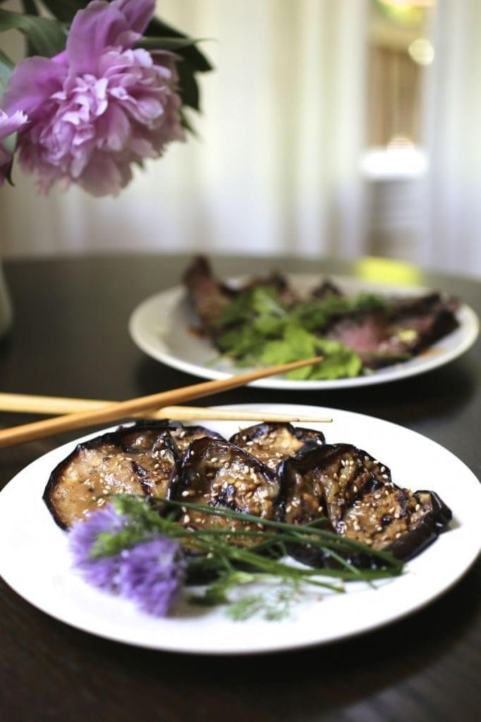 Miso-Ginger Grilled Eggplant
