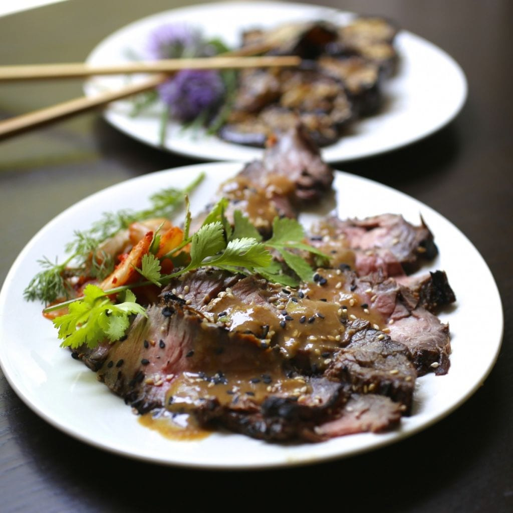 Asian-Marinated Grilled Flank Steak - Nerds with Knives