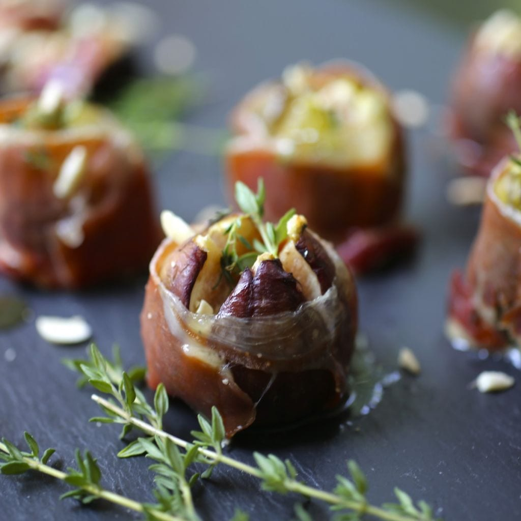 Roasted Figs with Bleu Cheese and Serrano Ham - Nerds with Knives