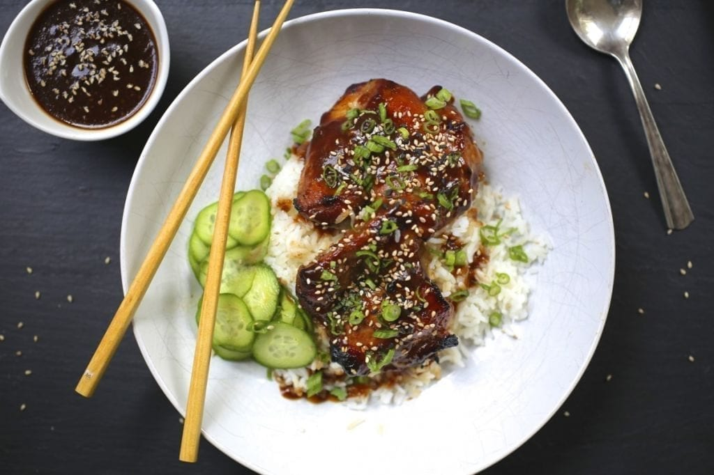 Baked Chicken with Honey and Soy