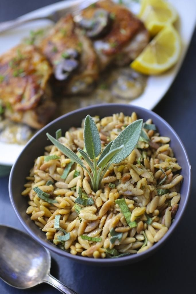 Toasted Orzo with Sage