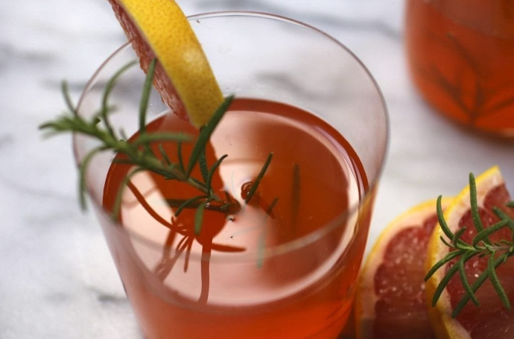 Rosemary, Baby! (Bourbon & Aperol Punch with Rosemary & Grapefruit)