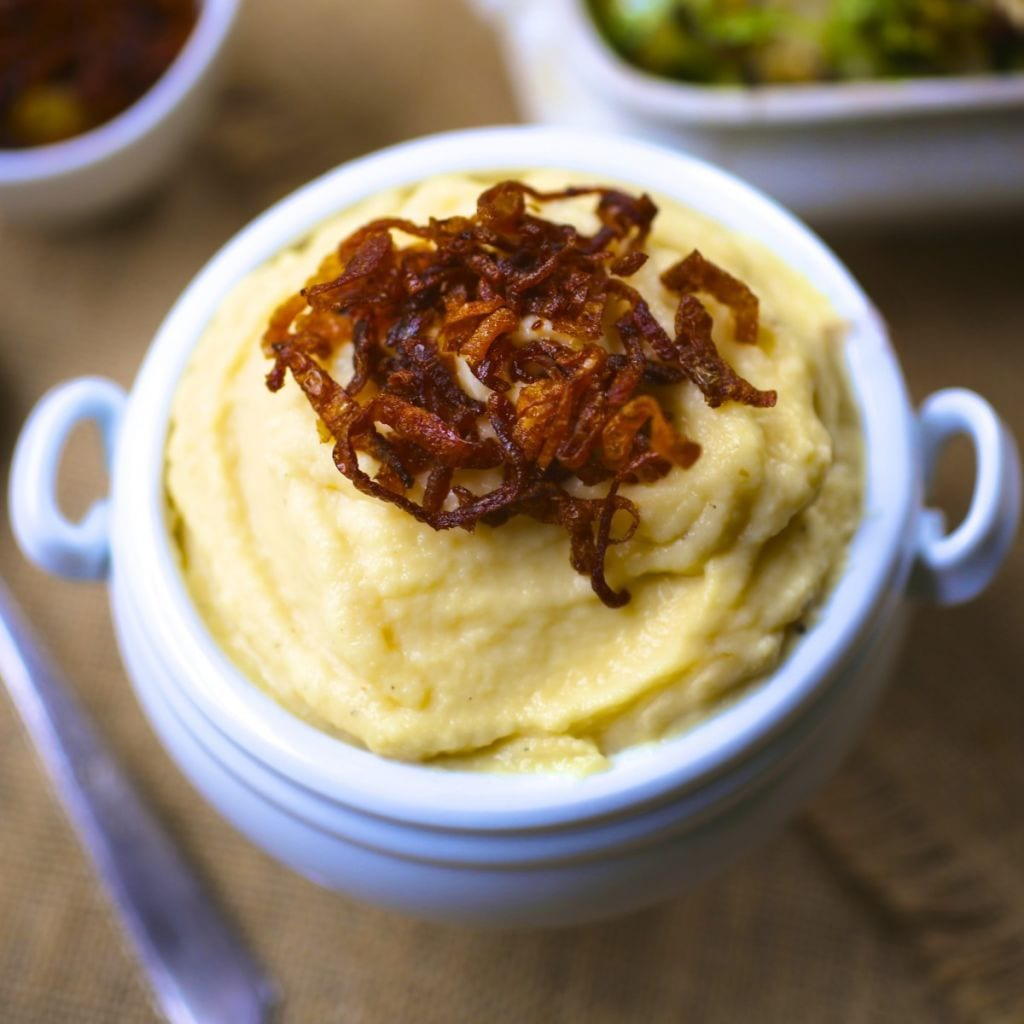 Whipped Rutabaga with Crispy Shallots - Nerds with Knives
