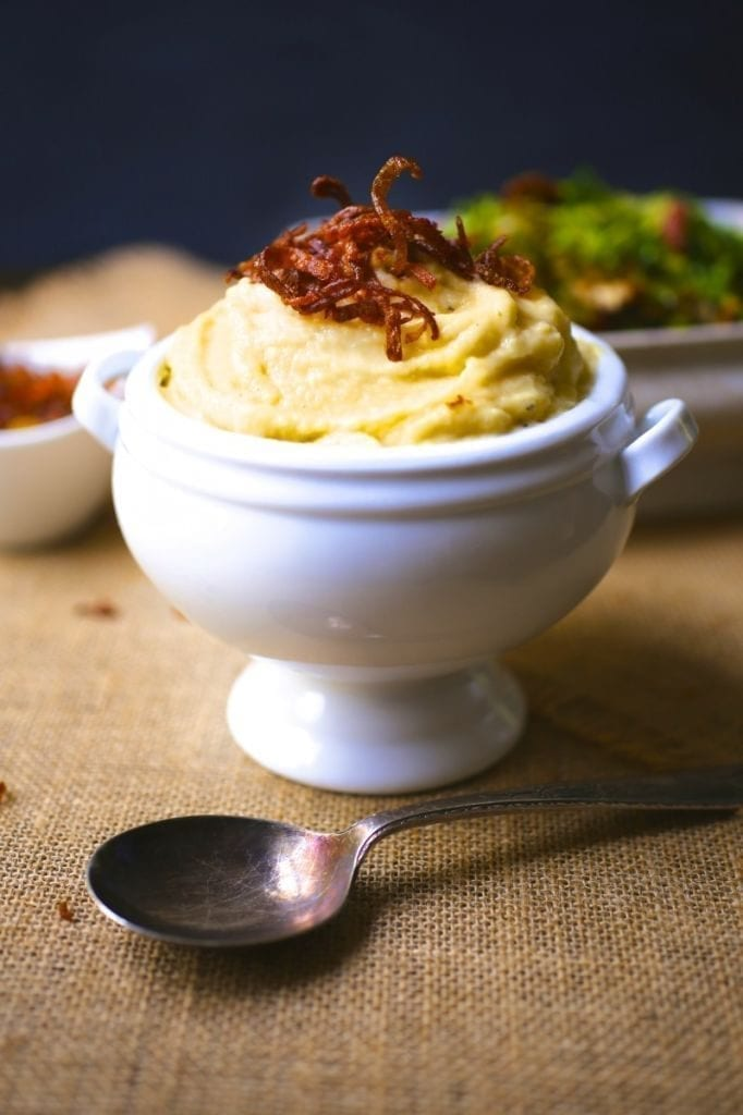 Whipped Rutabaga with Crispy Shallots