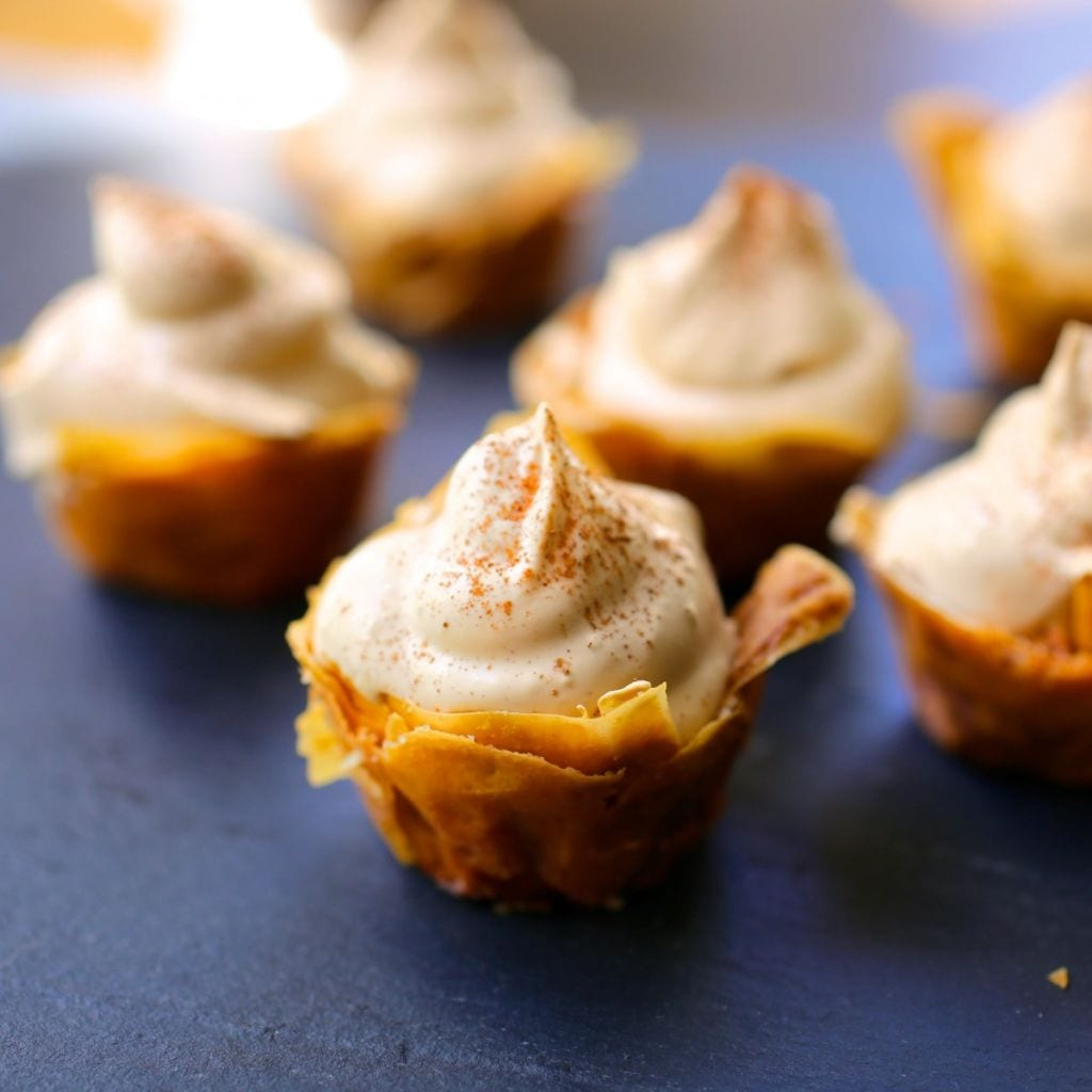 Mini Phyllo Cups with Cappuccino Cream - Nerds with Knives