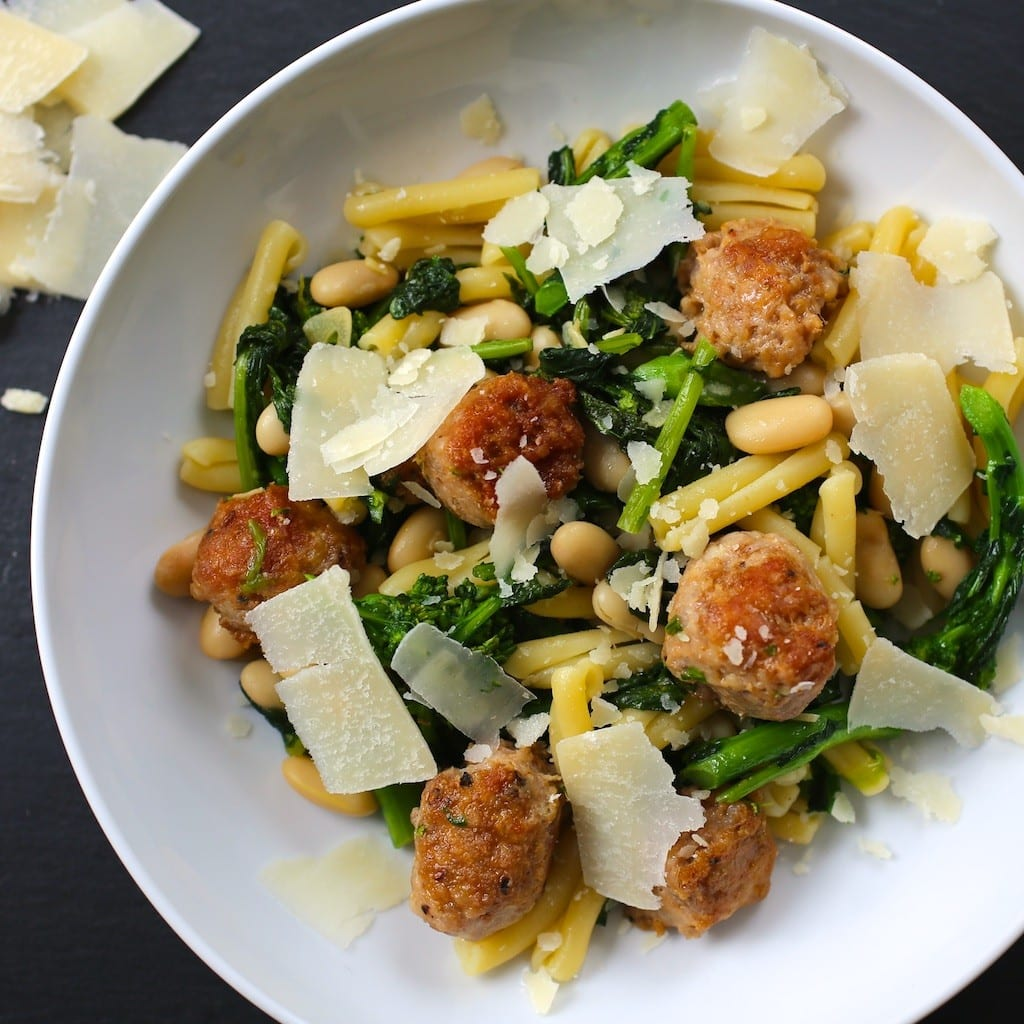 Pasta with Sausage, Broccoli Rabe and White Beans - Nerds with Knives