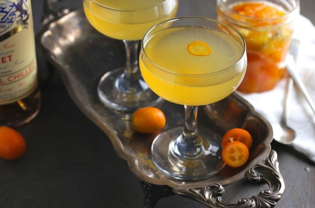 Kumquat-Ginger Rose Cocktail