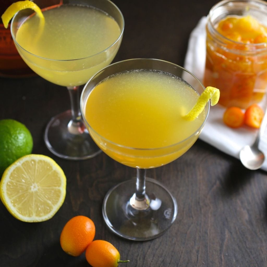 Kumquat-Ginger Whisky Sour - Nerds with Knives