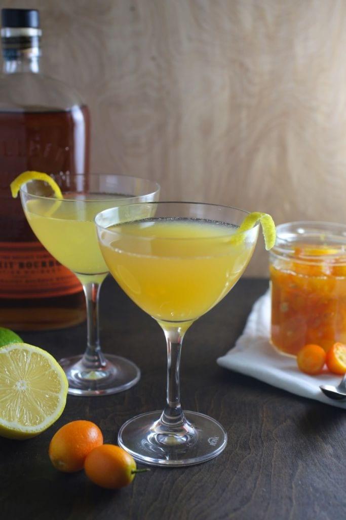 Kumquat-Ginger Whisky Sour - Nerds with Knives