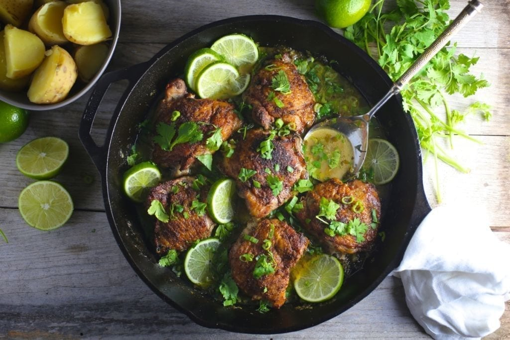 Chicken with Lime, Garlic and Cilantro
