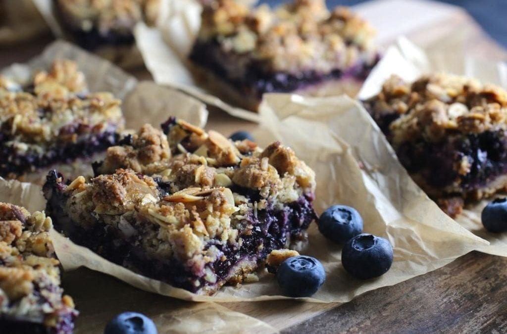 Blueberry, Oat and Almond Crumb Bars