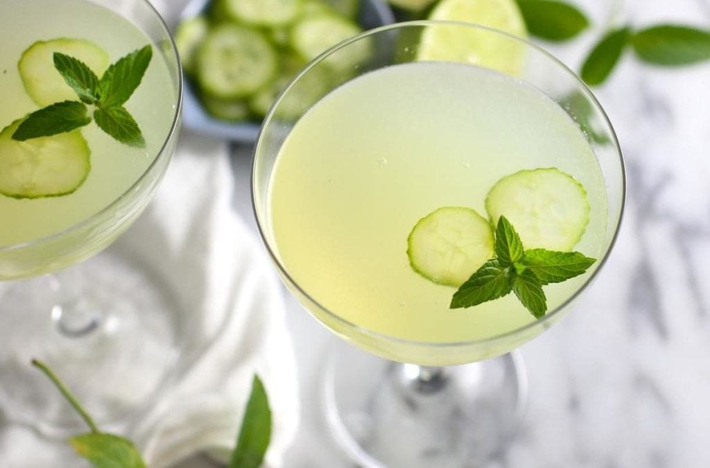 Refreshing Summer Cucumber and Mint Gimlet