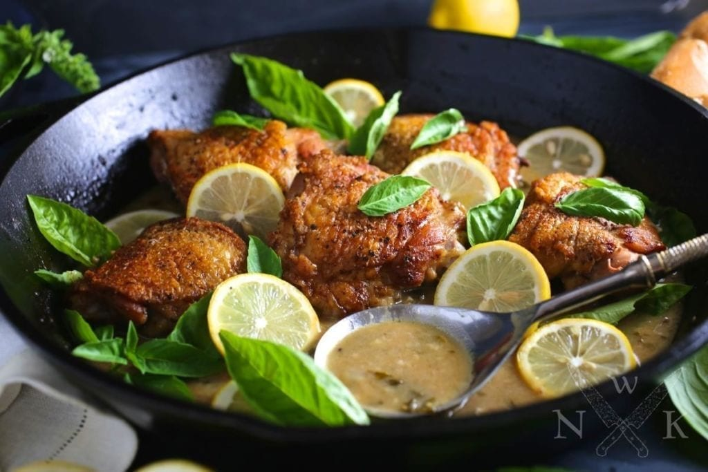 Chicken with Lemon, Garlic and Basil