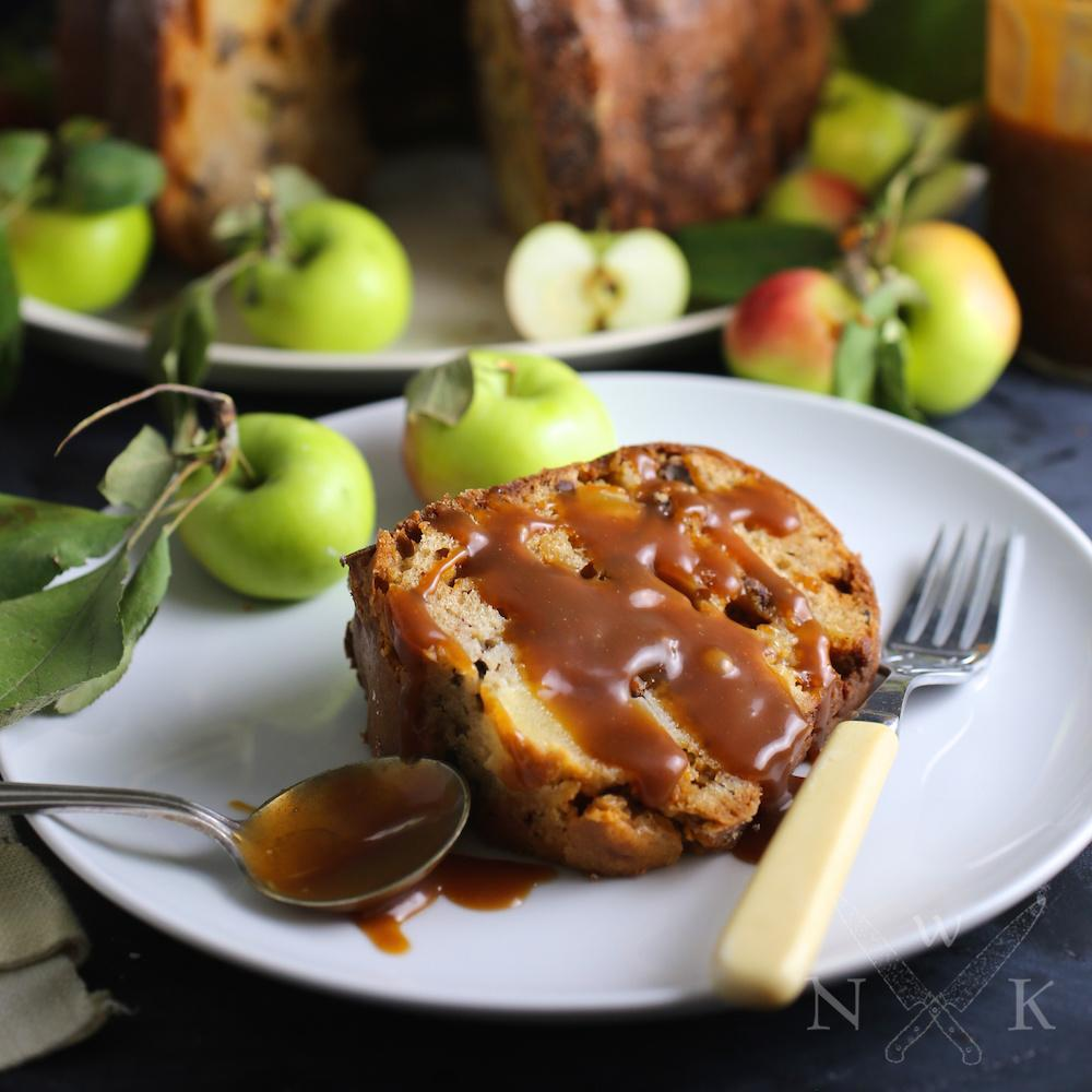 Toffee-Apple Sour Cream Cake