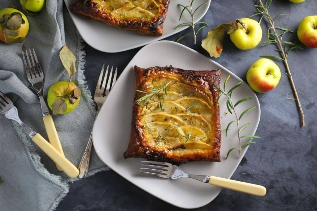 Apple Tarts with Rosemary-Lime Sugar