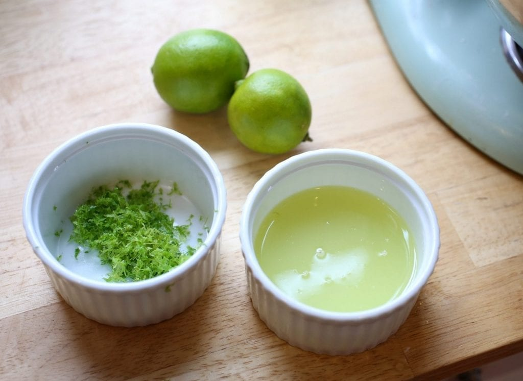 Key Lime zest and juice