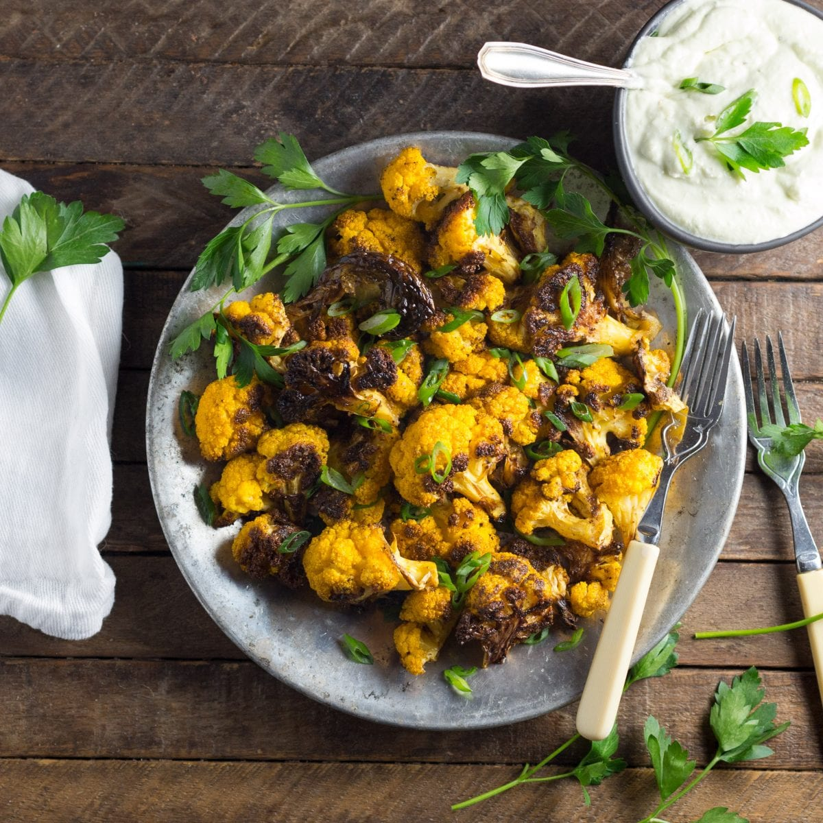 Cumin-Roasted Cauliflower with Whipped Feta