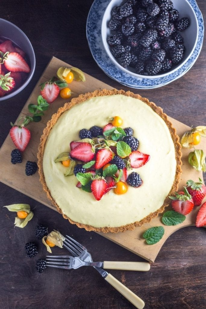 Vanilla Custard Tart with Berries