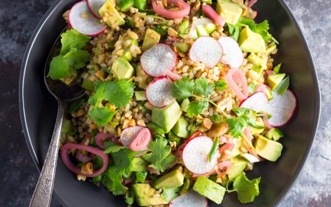 Teriyaki Brown Rice Salad With Avocado