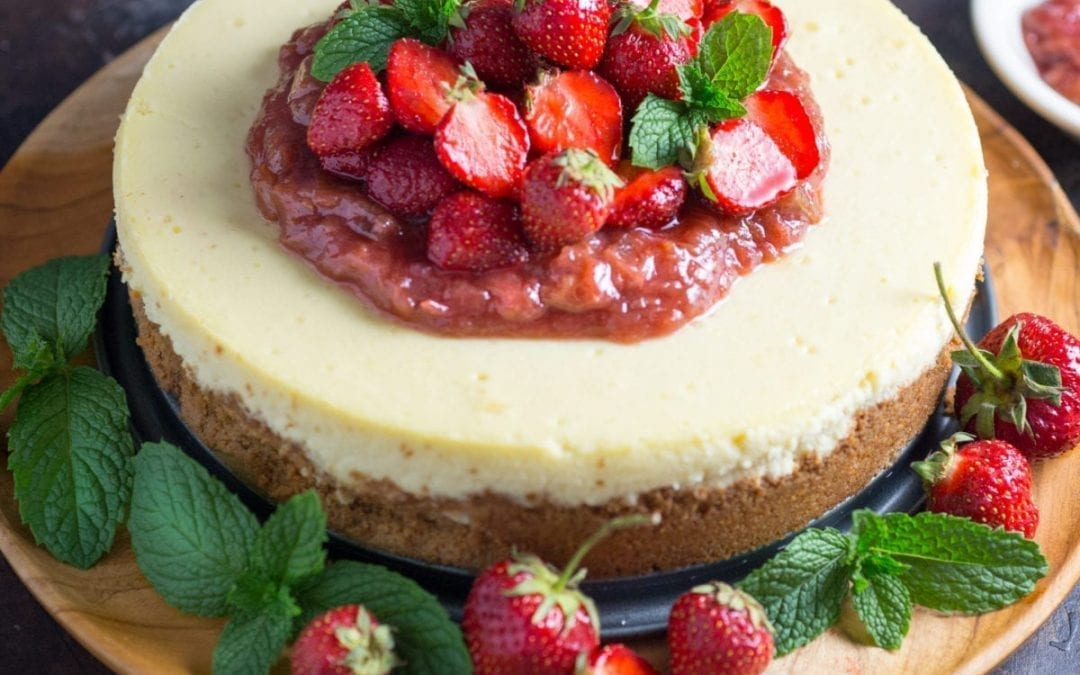Strawberry Rhubarb Cheesecake