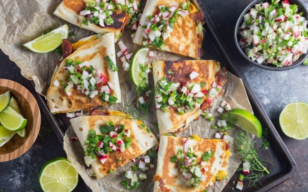 Chorizo Quesadillas With Radish and Fennel Salsa