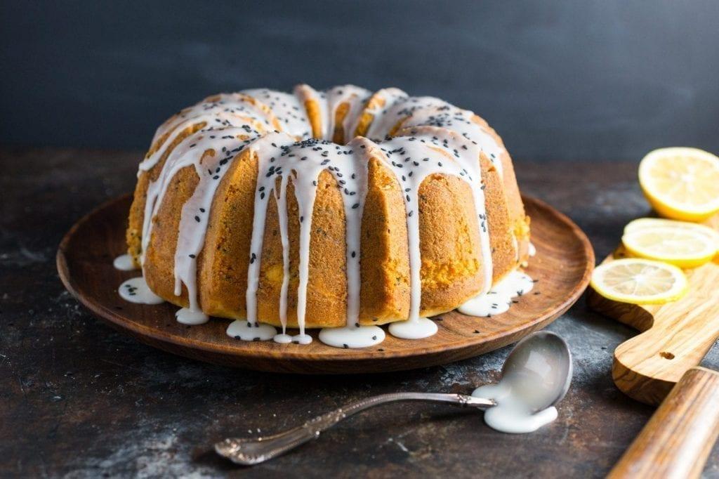 lemon sesame seed pound cake