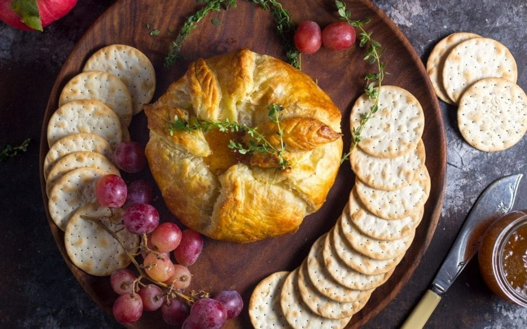 Baked Brie en Croûte With Thyme and Fig Jam