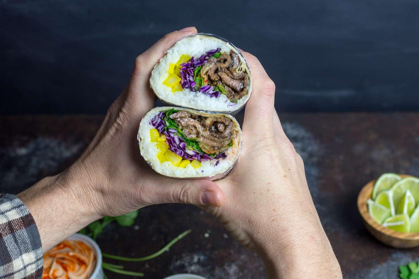 Korean Bulgogi Burritos